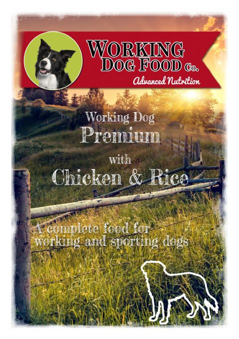 Working Dog Rings with Chicken & Rice Dry Dog Food